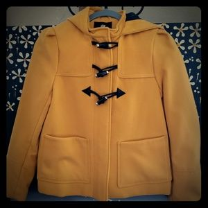 H&M Mustard Peacoat with Hood